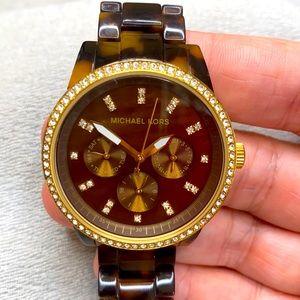 Michael Kors watch Tortoise Gold Diamond